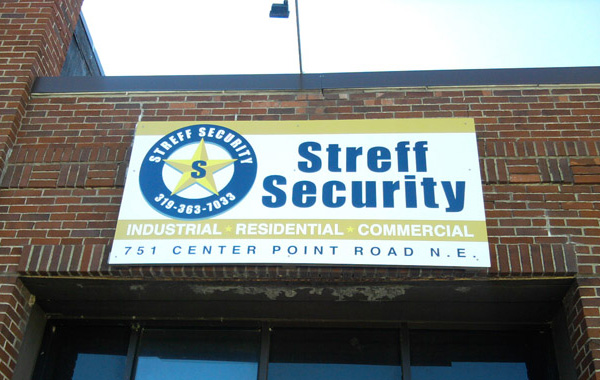 Streff Security Sign