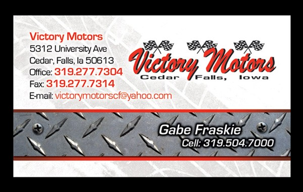 Victory Motors Business Card