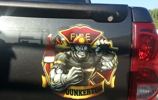 Dunkerton Fire Decal