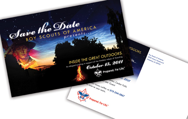 Boy Scout Save the Date Postcard